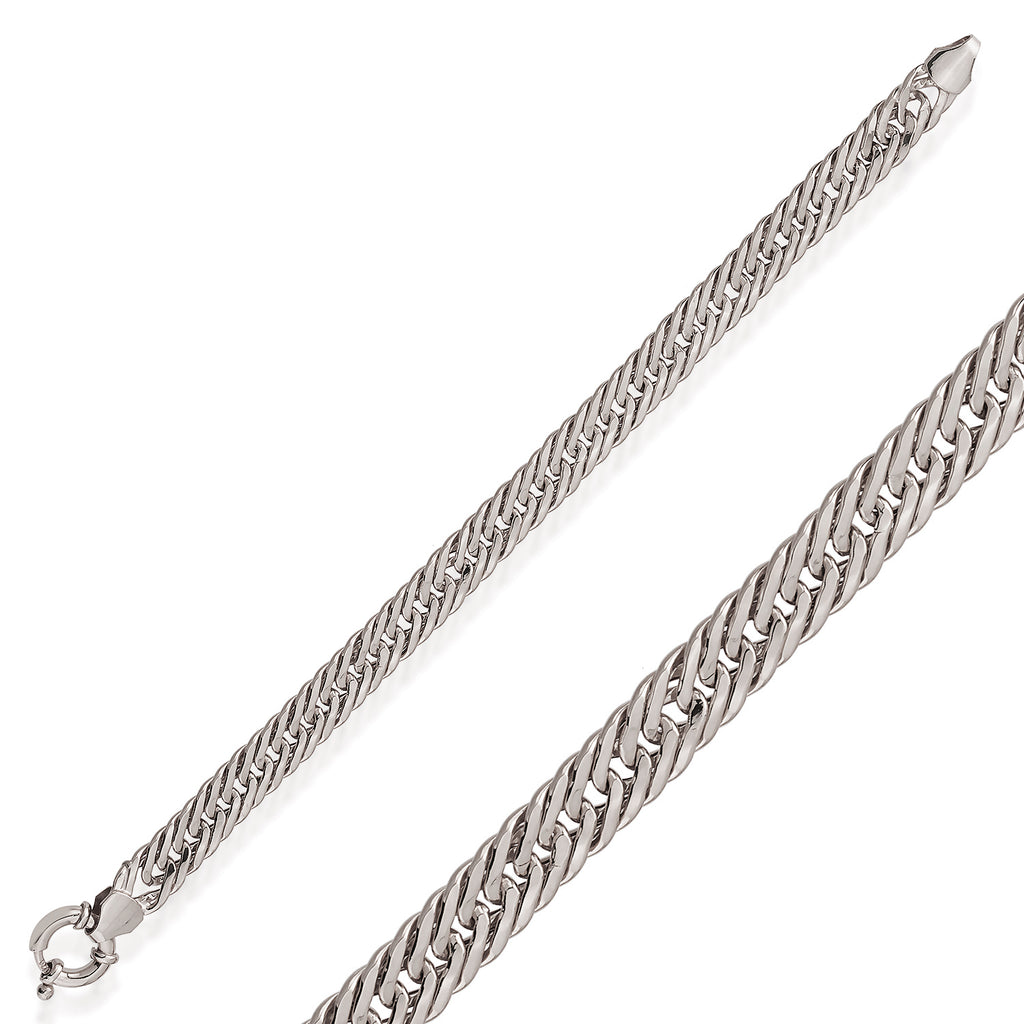 Thick Cuban Curb Chain-4 Gold Plated Trendy Bracelet Wholesale 925 Crt Sterling Silver  Turkish Jewelry