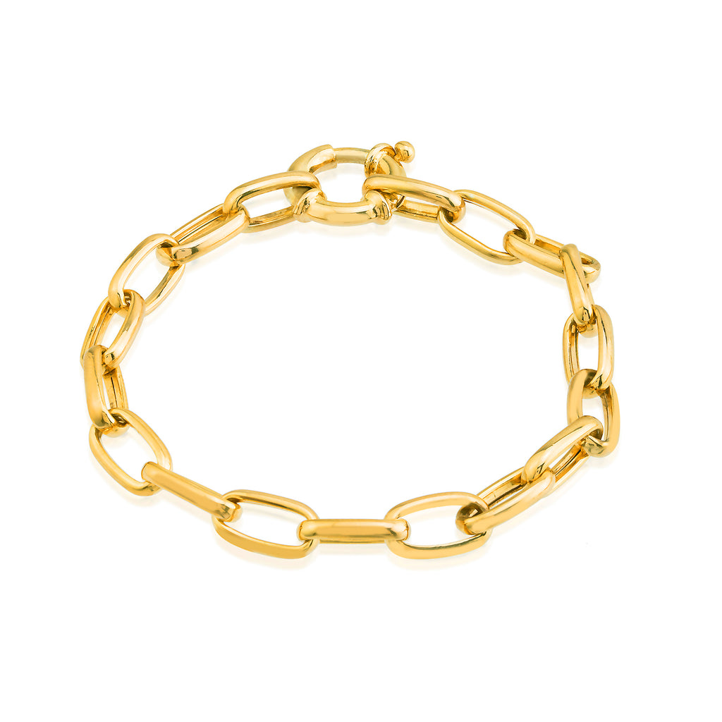 Best Price Big Chunky Chain Gold Plated Fashionable Summer Bracelet Wholesale 925 Crt Sterling Silver  Turkish Jewelry