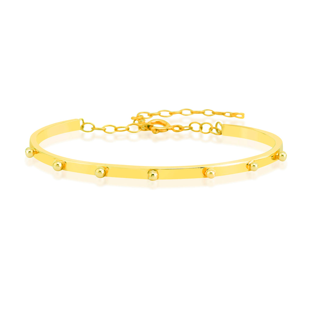 Best Price Gold Plated Balls Adjustable Bangle Fashionable Summer Bracelet Wholesale 925 Crt Sterling Silver  Turkish Jewelry