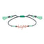 Best Price Best Quailty Hope Motto Gold Plated Fashionable Green Macrame Summer Bracelet Wholesale  925 Crt Sterling Silver  Turkish Jewelry