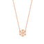 Dainty Zirconia Snowflake Necklace 925 Crt Sterling Silver Gold Plated Wholesale Turkish Jewelry