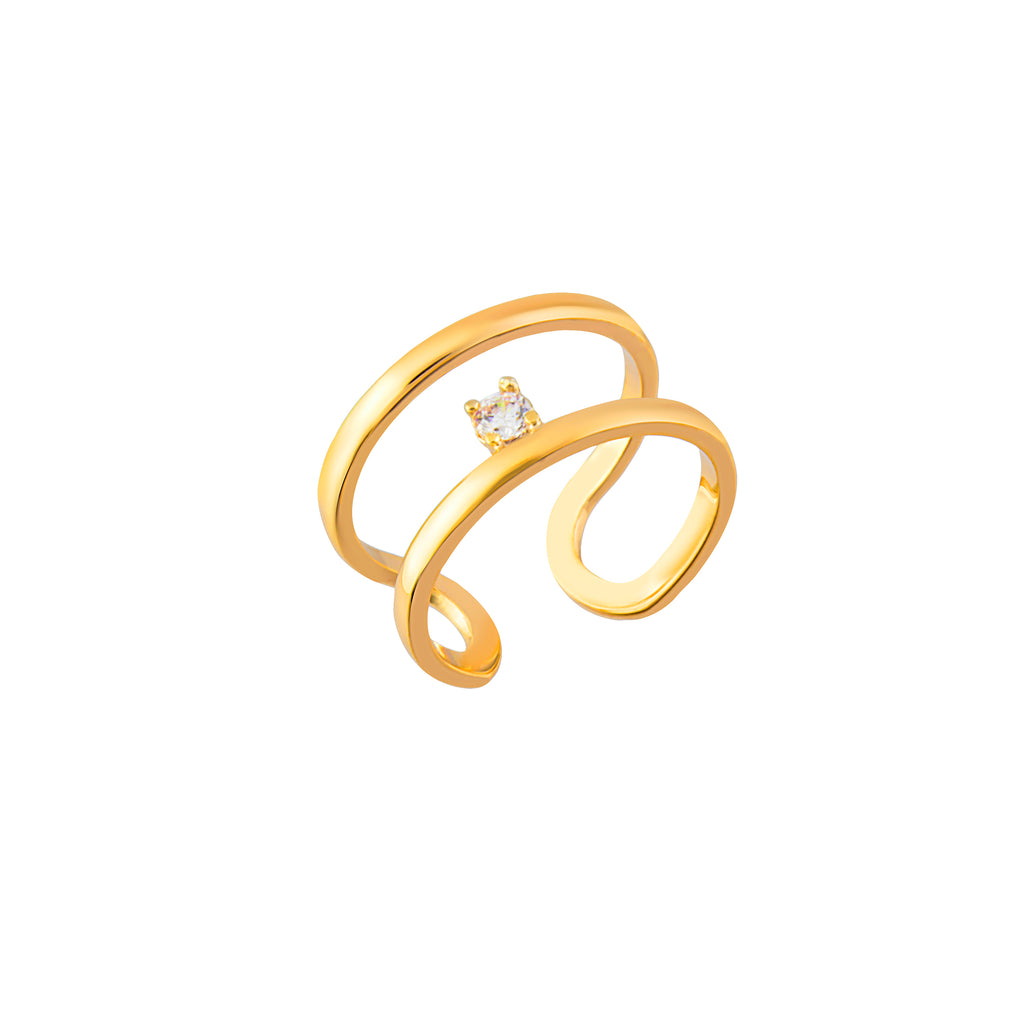 Gold Plated Adjustable Ring 925 Crt Sterling Silver  Wholesale Turkish Jewelry