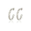 925 Sterling Silver Best Quality Curb Chain Hoop New Trends Fashionable Wholesale Turkish Jewelry Stud Earring