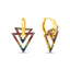 New Trend Colorful Zirconium Double Triangle Dangle Earring 925 Sterling Silver Wholesale Fashionable Turkish Jewelry