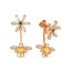 New Trend Zirconium Flower and Bee Concept Earring  925 Sterling Silver   Wholesale Fashionable Turkish Jewelry