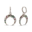 New Trend Colorful Zirconium Horn Dangle Earring 925 Sterling Silver  Wholesale Fashionable Turkish Jewelry