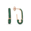 New Trends Green Zirconium Safety Pin Earring Wholesale Fashionable 925 Sterling Silver  Turkish Jewelry