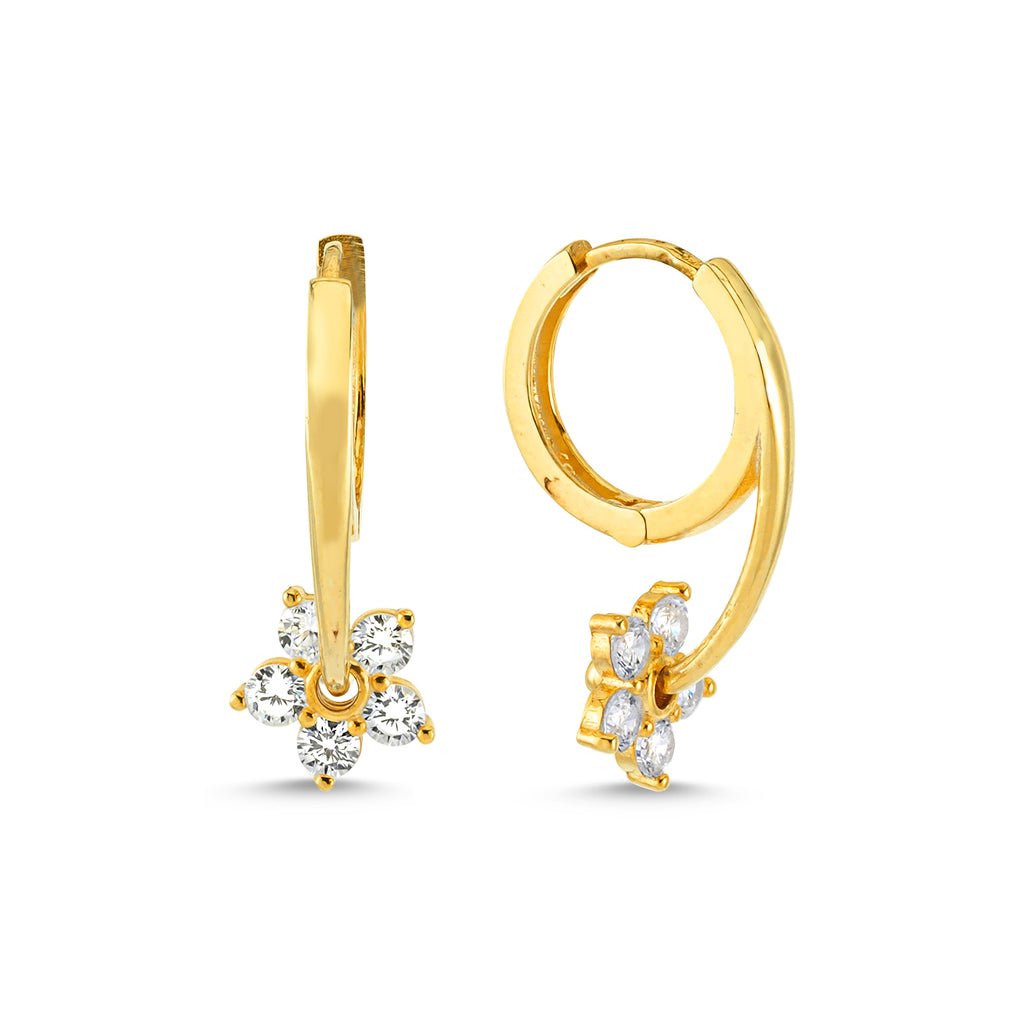 New Trend Zirconium Daisy Earring  925 Sterling Silver  Wholesale Fashionable Turkish Jewelry