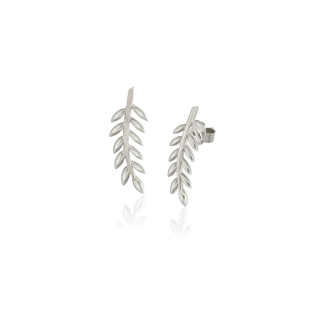 925 Sterling Silver 18K Gold Plating Best Quality Custom Design New Trends Leaf Wholesale Turkish Jewelry Earring
