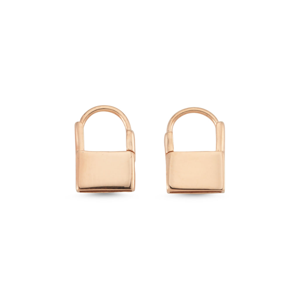New Trend PadLock Earring 925 Sterling Silver Wholesale Fashionable Turkish Jewelry