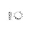 New Trend Black Zirconium Mini Hoop Earring 925 Sterling Silver  Wholesale Fashionable Turkish Jewelry