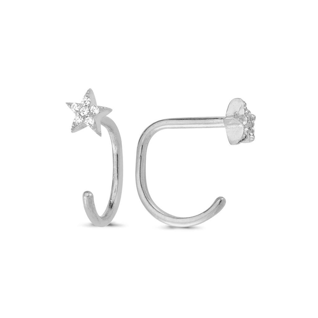 925 Sterling Silver Star Hook Trendy Earring Wholesale Fashionable Turkish Jewelry