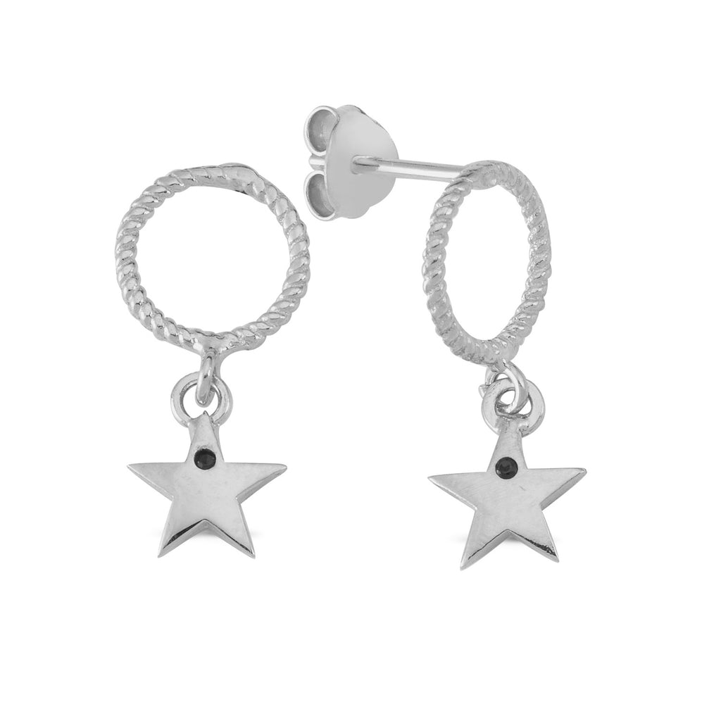 Circle With Star Trendy Wholesale 925 Sterling Silver  Turkish Jewelry