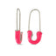 Pink Safety Pin Trendy Earring Wholesale 925 Sterling Silver  Fashionable Turkish Jewelry