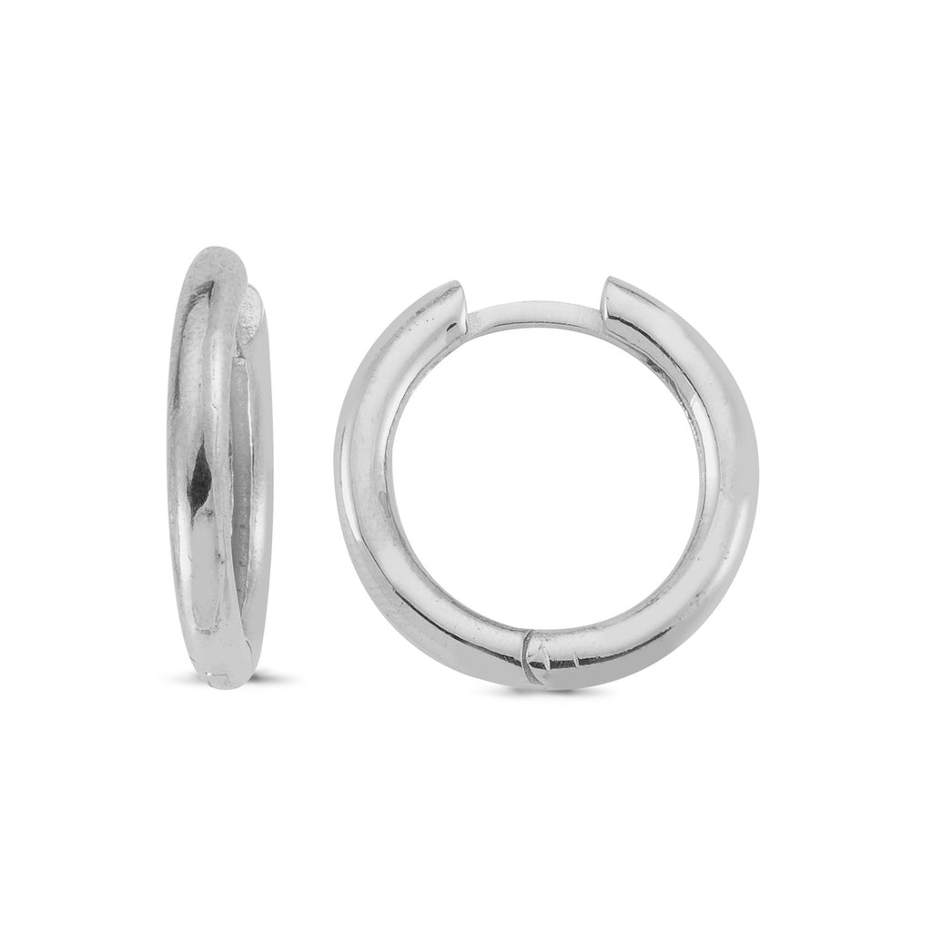 Minimal Hoop Earring Wholesale Fashionable 925 Sterling Silver   Turkish Jewelry