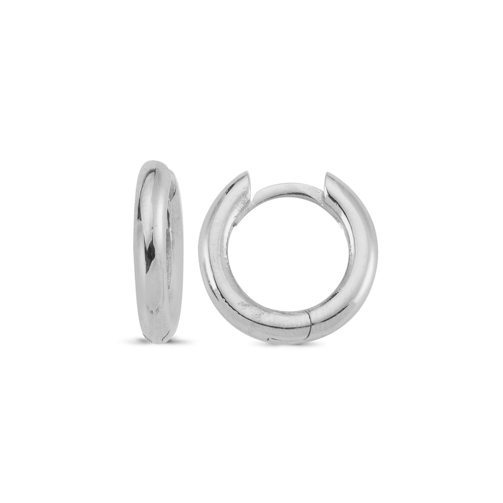 Mini Plain Hinged Hoop Earring Wholesale 925 Sterling Silver  Turkish Jewelry