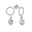 925 Sterling Silver Circle Hanging Clover Trendy Earring Wholesale Fashionable Turkish Jewelry