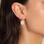 Hammered Coin Northstar Trendy Earring Wholesale 925 Sterling Silver   Turkish Jewelry