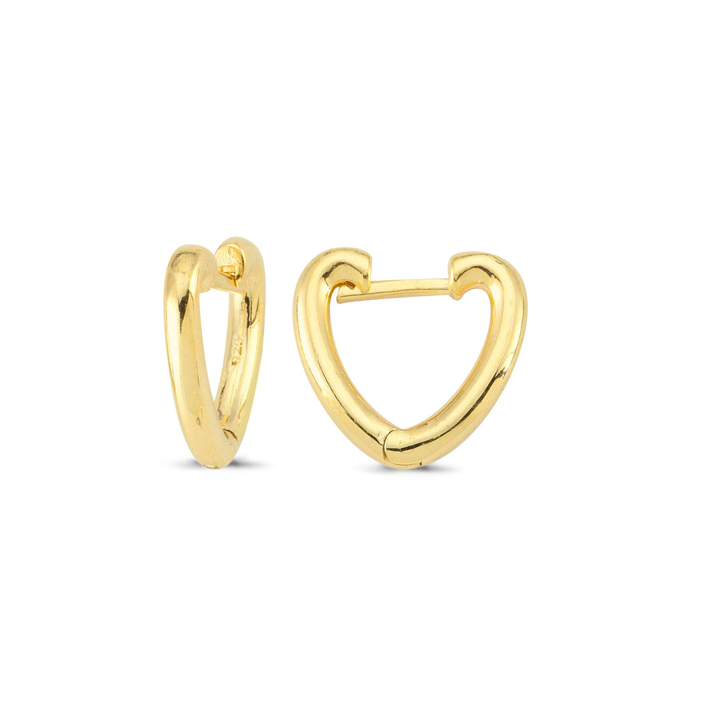 Heart Hoop Earring Wholesale  925 Sterling Silver  Fashionable Turkish Jewelry