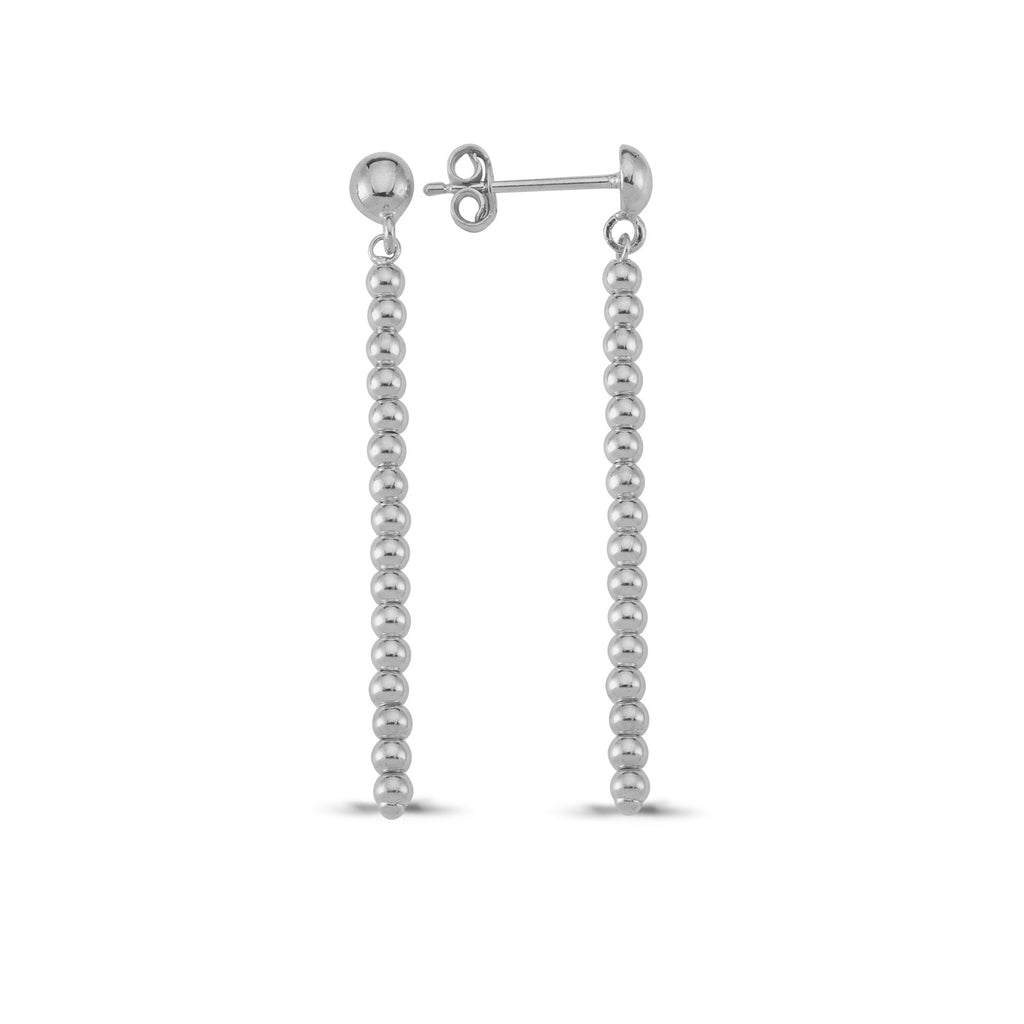 925 Sterling Silver Mini Ball Bar Earring Wholesale Fashionable Turkish Jewelry