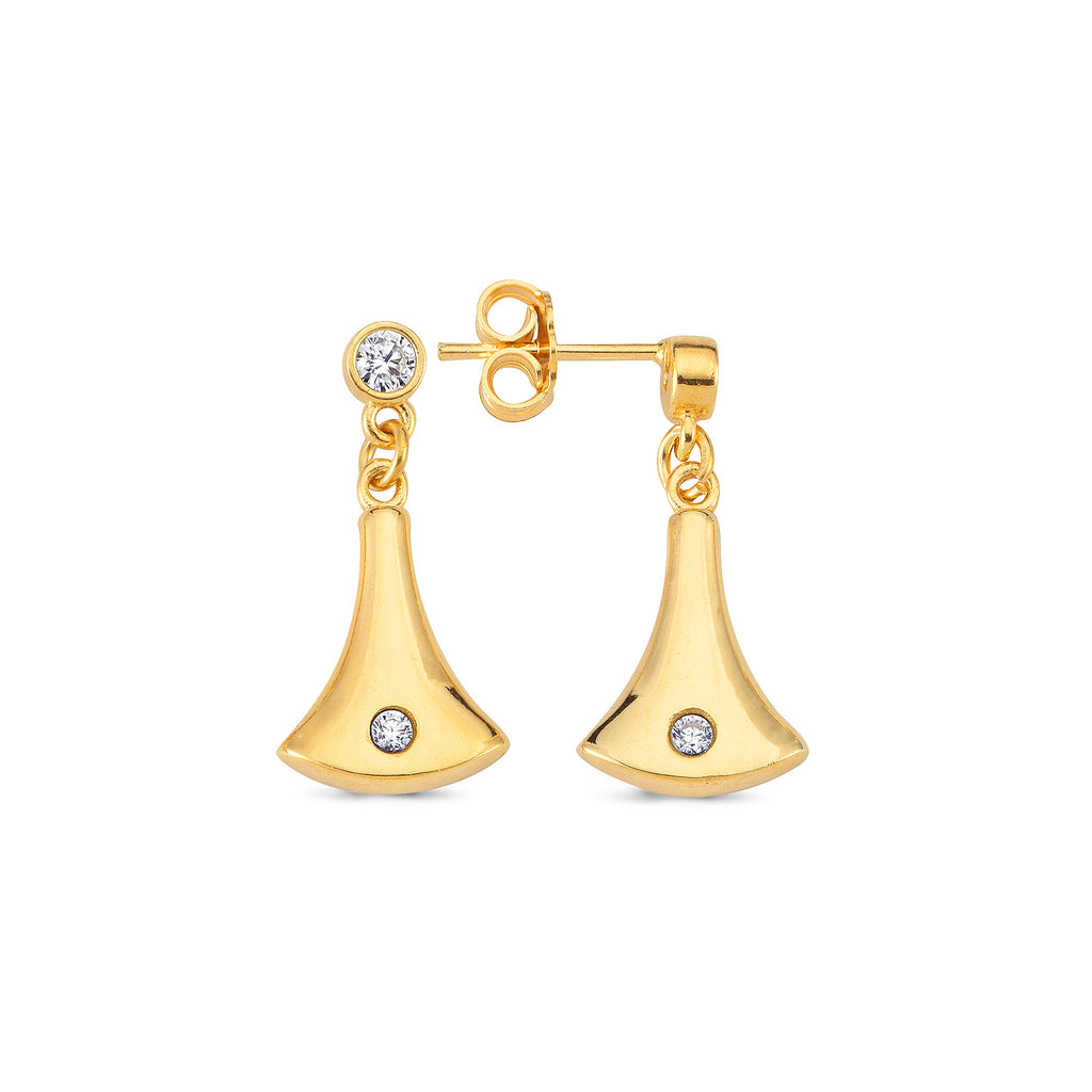 Zirconium Hanging Bell Trendy Earring Wholesale 925 Sterling Silver Turkish Jewelry