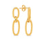 925 Sterling Silver Two Link Trendy Earring Wholesale Turkish Jewelry