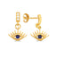 Dark Blue Evileye Earring Wholesale 925 Sterling Silver  Fashionable Turkish Jewelry