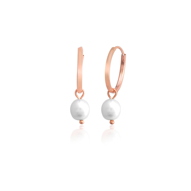 925 Sterling Silver Best Quality Single Pearl Fashionable Hoop Earring Wholesale Turkish Jewelry