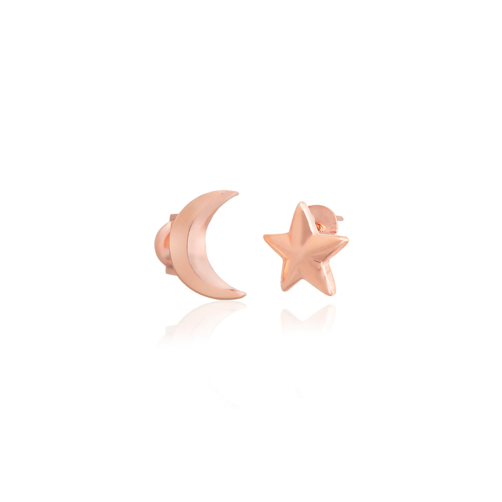 Moon-Star New Trends Fashionable Stud Earring 925 Sterling Silver Best Quality Wholesale Turkish Jewelry