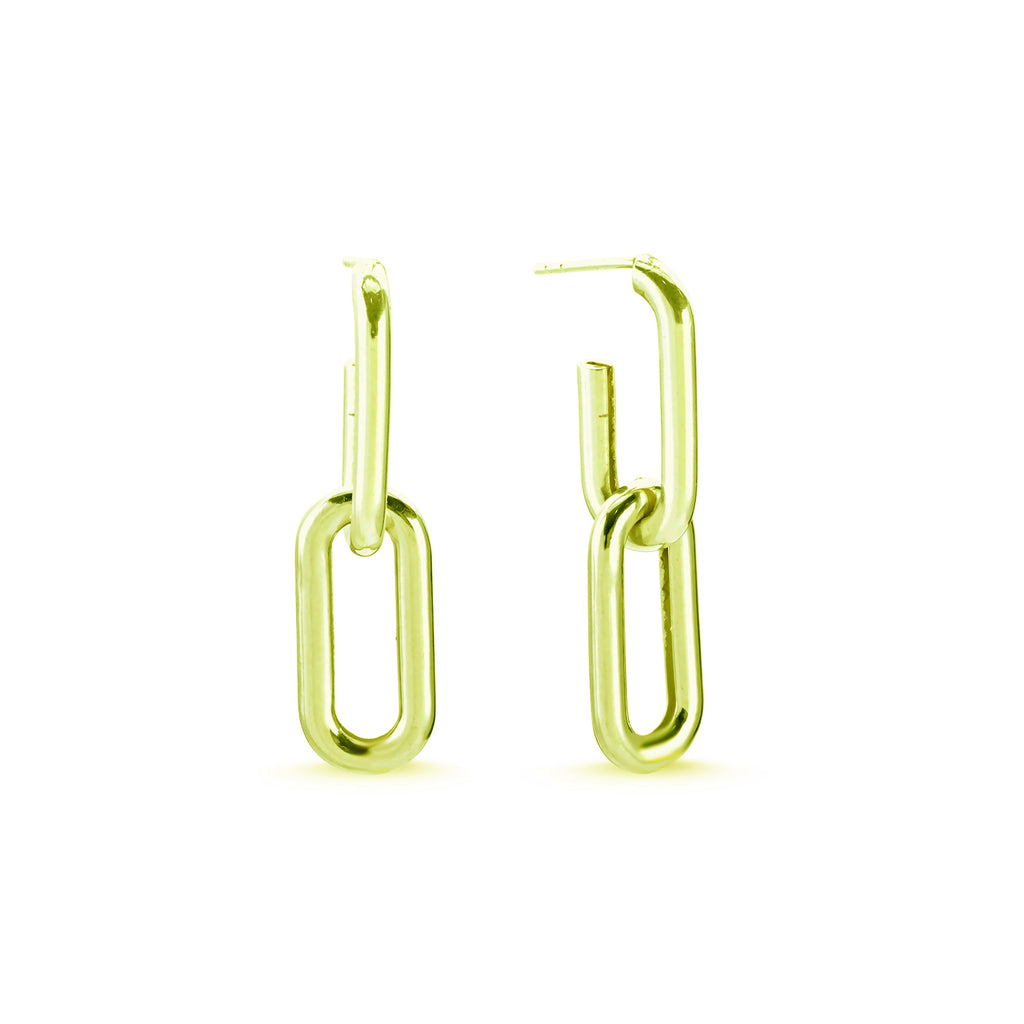 New Trend Two Link Removable Dangle Earring 925 Sterling Silver  Wholesale Fashionable Turkish Jewelry