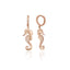 925 Sterling Silver Zirconia Seahorse Earring Wholesale Turkish Jewelry