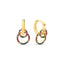 New Trend Colorful Zirconium Double Circle Earring 925 Sterling Silver  Wholesale Fashionable Turkish Jewelry
