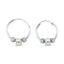 New Trend Mini Balls Star Wheel Hoop Earring 925 Sterling Silver  Wholesale Fashionable Turkish Jewelry