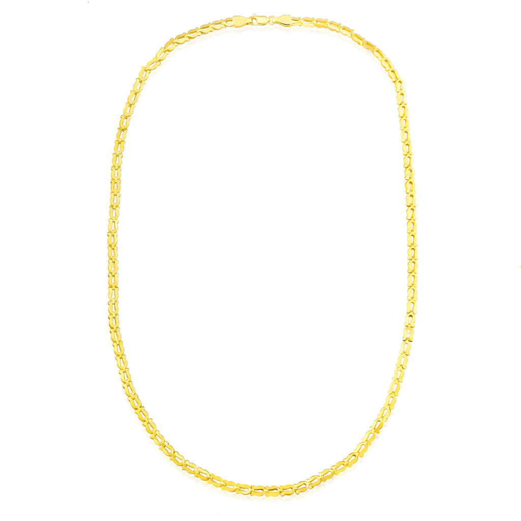 Horse Shoe Chain Gold Plated 925 Crt Sterling Silver Necklace Wholesale Turkish Jewelry