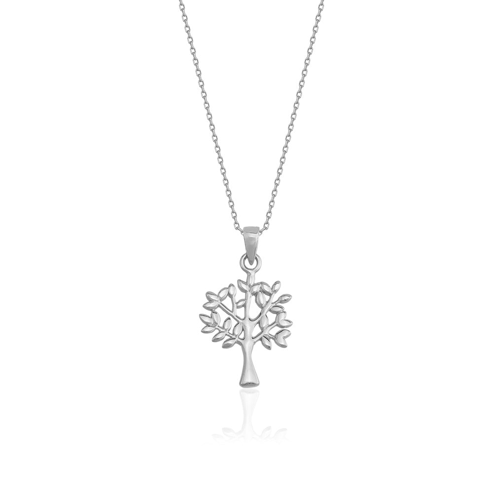 925 Crt Sterling Silver Gold Plated Fashionable Tree Necklace Wholesale Turkish Jewelry