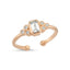 Triple Zirconium Baguette Gold Plated Adjustable Ring Wholesale 925 Crt Sterling Silver  Turkish Jewelry