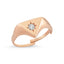 Zirconium Triangle Gold Plated Adjustable Ring Wholesale Turkish 925 Crt Sterling Silver Jewelry