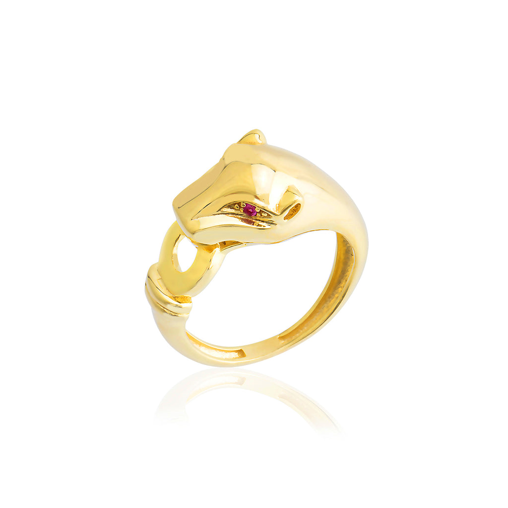 Zirconium Gold Plated Fashionable Leopar Ring Wholesale 925 Crt Sterling Silver Pink Turkish Jewelry