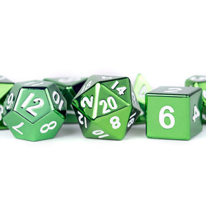 MDG 16mm Metal Poly Dice Set: Green