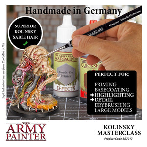 The Army Painter: Wargamer Paintbrush - Kolinsky Masterclass - Lulu Games