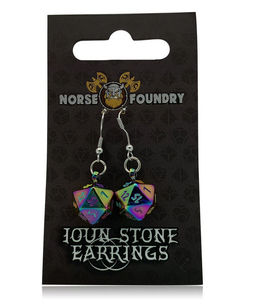 Norse Foundry D20 Earrings: Bifrost