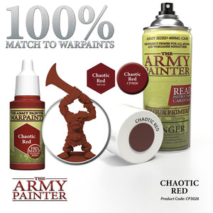 The Army Painter: Colour Primer - Chaotic Red - Lulu Games