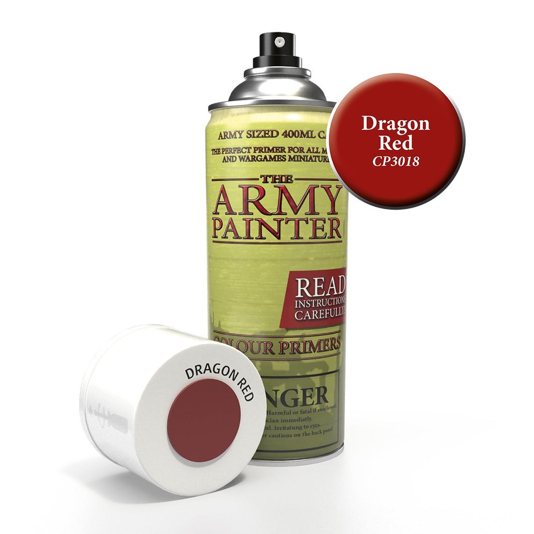 The Army Painter: Colour Primer - Dragon Red - Lulu Games