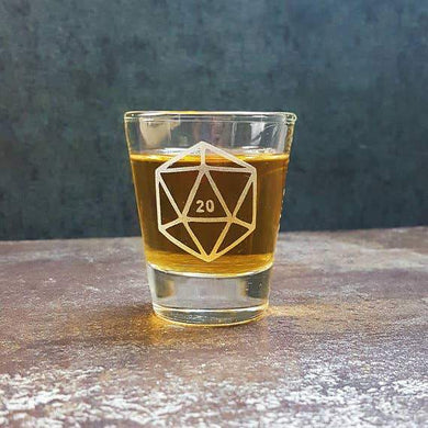D20 Shot Glass - Lulu Games