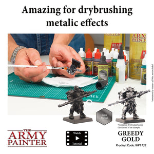 The Army Painter: Warpaint Metallics - Greedy Gold - Lulu Games