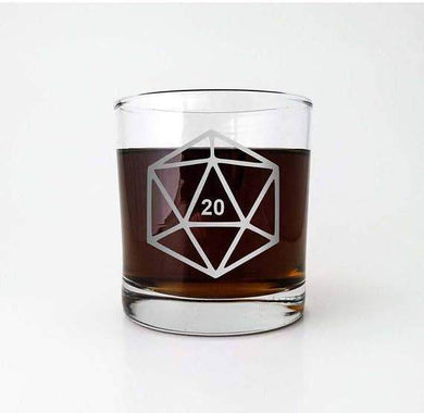 D20 Whiskey Glass - Lulu Games
