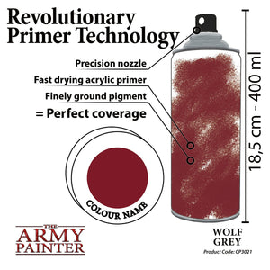 The Army Painter: Colour Primer - Wolf Grey - Lulu Games