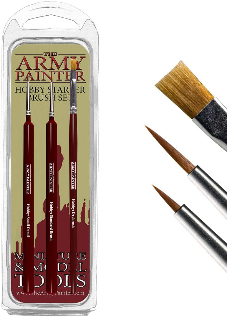The Army Painter: Wargamer Paintbrushes: Hobby Starter Brush Set