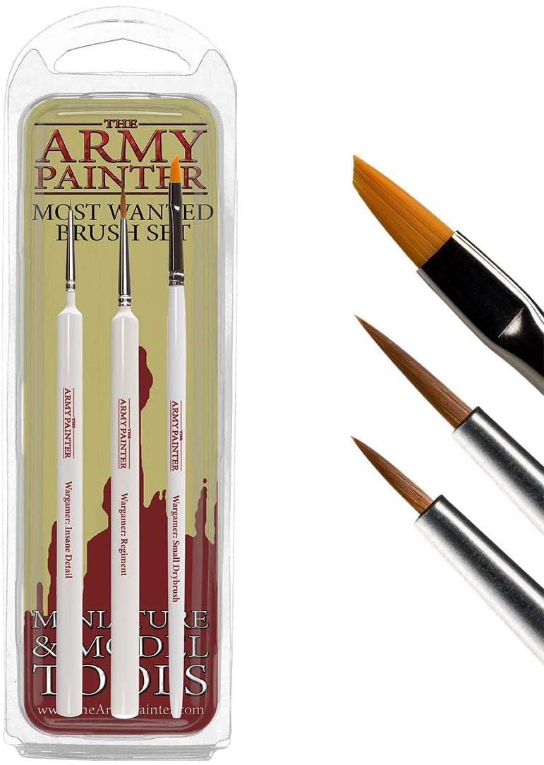 The Army Painter Brushes: Wargamer Paintbrushes - The Most Wanted Set