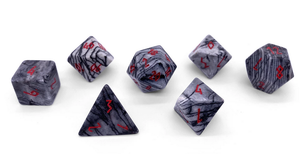 Norse Foundry Gemstone Dice: Black Network Agate